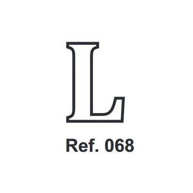 Corcho Letra L 10cm.