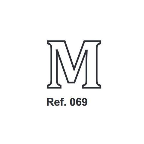 Corcho Letra M 10cm.