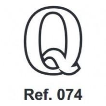 Corcho Letra Q 10cm.