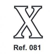 Corcho Letra X 10cm.