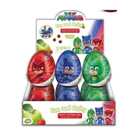 Huevos de plástico Pjmasks con Snack de Frutas y Juguetes 18u.