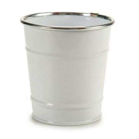 Cubo Blanco con filo de plata