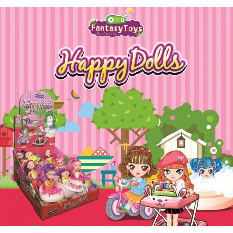 Fantasy toys happy dolls 10u.