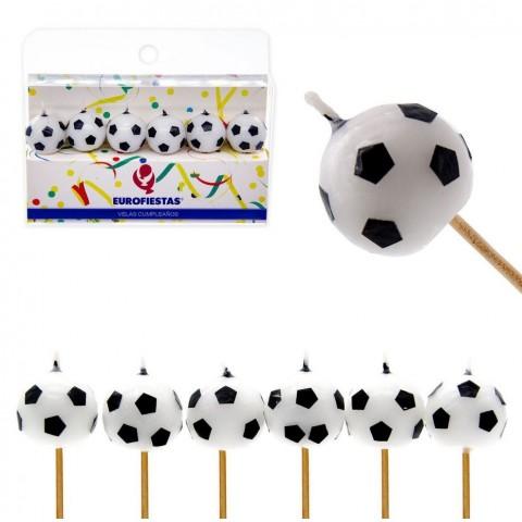 Velas Balones de Fútbol 6u.