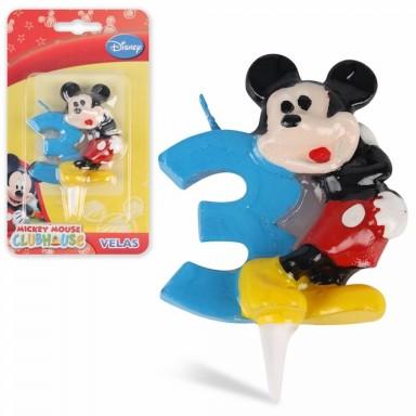 Vela Mickey  Nº 3.