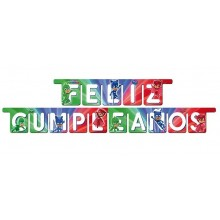 Guirnalda Feliz Cumpleaños PJ Masks