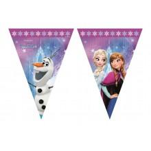 Banderin Plástico Frozen 2.3m.