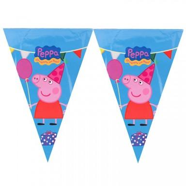 Banderín Peppa Pig 3m.