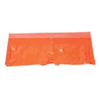 Fleco naranja de plástico 25M.