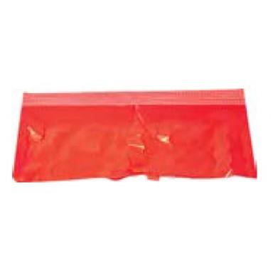 Fleco rojo de plástico 25M.