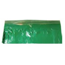Fleco plastico para fiestas 25 metros verde.
