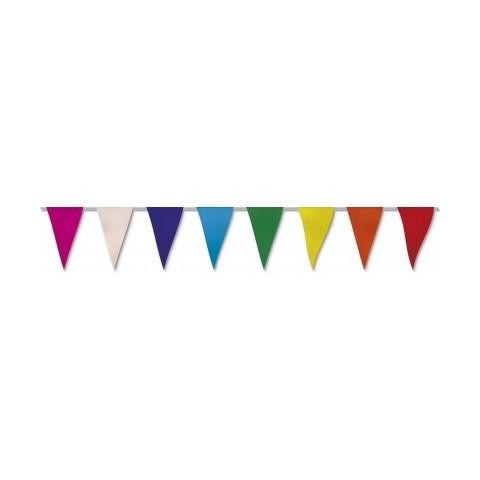 Bandera Triangular de papel 50m.