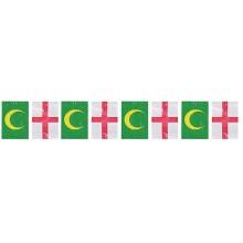 Bandera plástico moros y cristianos 50M.