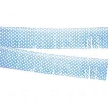 Fleco azul con lunares de plástico 10M.