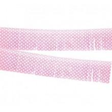 Fleco rosa con lunares de plástico 10M.