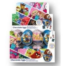 Huevos de chocolate Patrulla & Princesas 24u.
