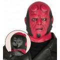 Máscara de demonio rojo sin cuernos