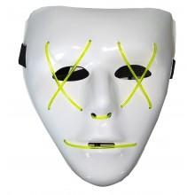 Máscara blanca con LED