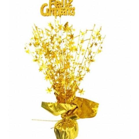 """Centro de Mesa en oro de """"Feliz Cumpleaños"""""""