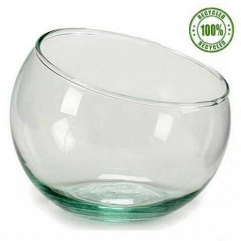 Pecera de vidrio 14cm. inclinada