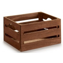 Caja de madera marron 21x15x11cm.
