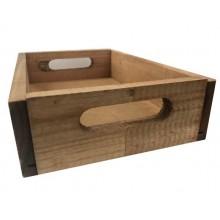 Caja de madera envejecida 22x15x6cm.