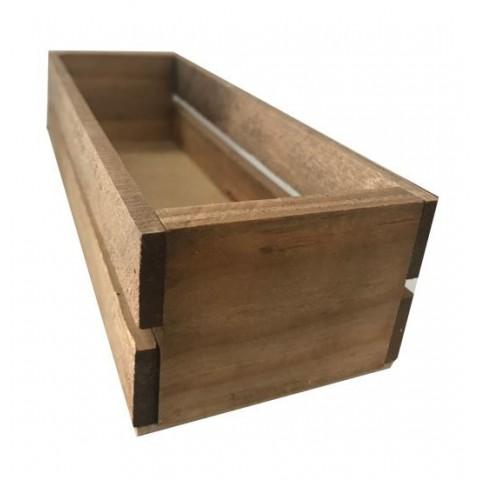 Caja de madera envejecida 22x8x6cm.