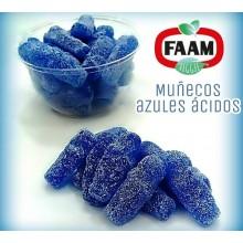 Caramelos de goma para veganos muñecos azules ácidos 2,5Kg.