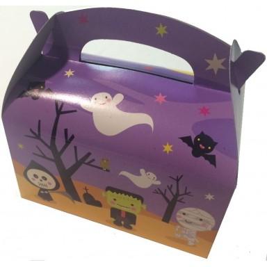 Cajita Cartón para celebraciones Halloween 1u.