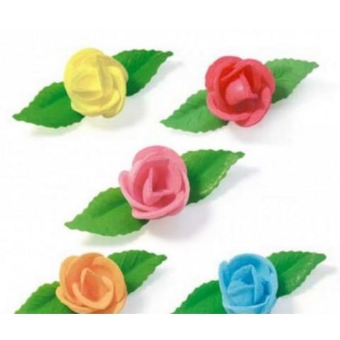 Flores de obleas comestibles medianas 80u.