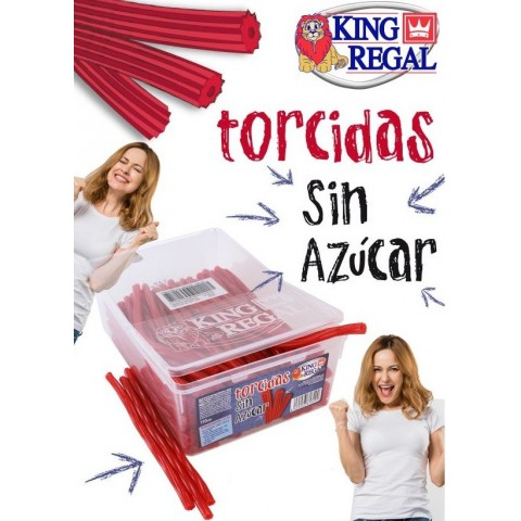 Torcidas sin azúcar King Regal 150u.