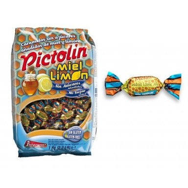 Caramelos Pictolin Miel y Limon Sin Azucar Intervan 1 kg.