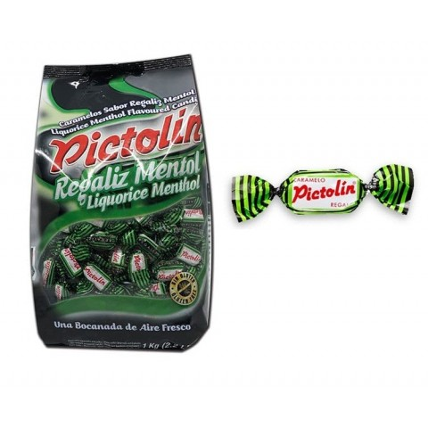 Caramelos Pictolin Intervan Regaliz 1kg.