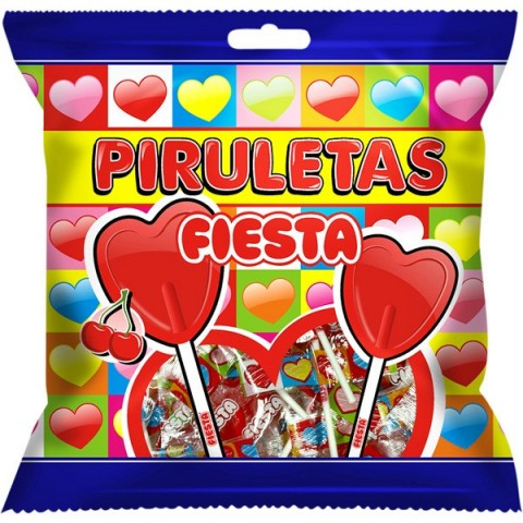 Piruleta Fiesta cereza Bolsa 7u.