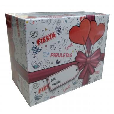 Cajita de regalo piruletas Fiesta 20u.