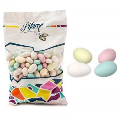 Peladillas especiales con almendra colores surtidos bolsa 1Kg.