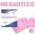 Guirnalda Rosa Mi Bautizo
