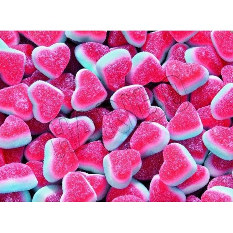 Caramelos de goma haribo tricorazón 250u.