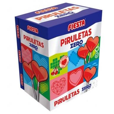 Piruletas Zero Fiesta cereza caja 70u.