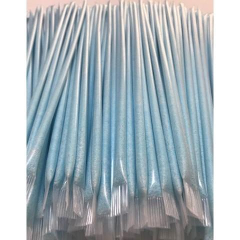 Cañas grandes con pica pica color azul sin gluten 100u.
