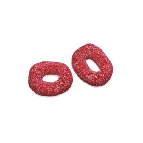 Caramelos de goma Fini bolsa Aros fresa 250u.