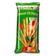 Palitos de pan Amor Di Pane sabor aceitunas verdes 90gr.