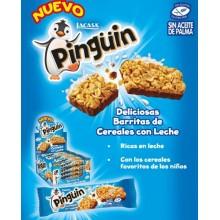 Pingüin barritas de cereales con leche 16u.