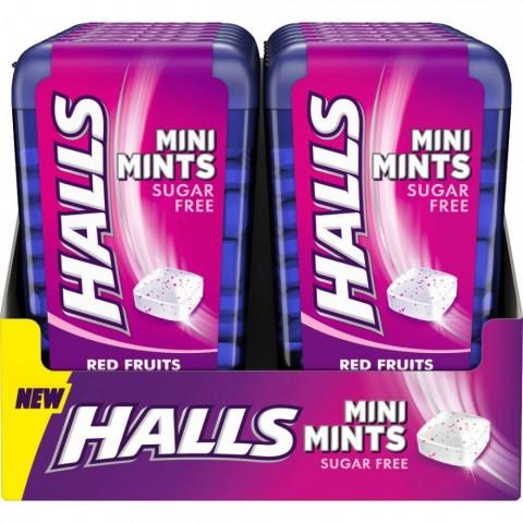 Halls Mini Mints Frutos Rojos 12u.
