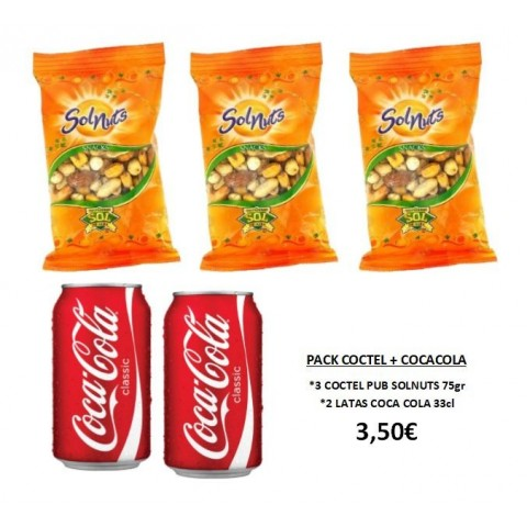 Pack Cóctel Pub + Coca cola