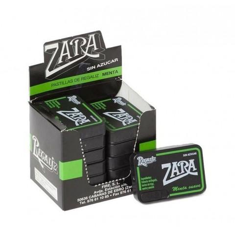 Pastillas de Regaliz Zara menta sin azúcar 12u.