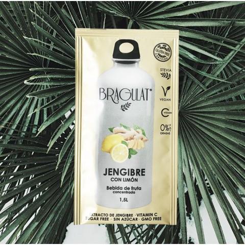 Bebida Bragulat sobres Jengibre con limón 15u.