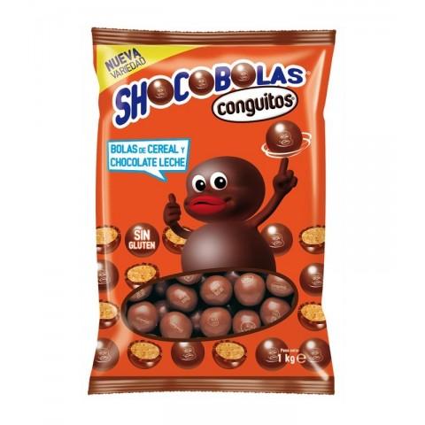 Shoco bolas de chocolate con leche de Lacasa bolsa 1kg.