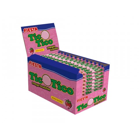 Chicle Tico Tico sabor fresa ácida 150u.