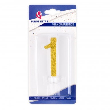 Vela Purpurina Oro Nº1